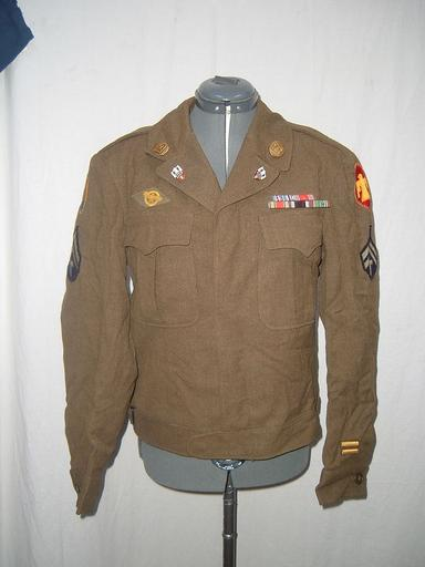 Wwii Ike Jacket With Lots Of Ribbons Amp Patches Pl